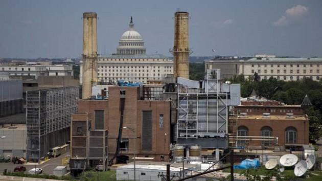 The Capitol Dome is seen behind the Capitol Power Plant in Washington, Monday, June 24, 2013. The plant provides power to buildings in the Capitol Complex. (AP Photo/Carolyn Kaster)