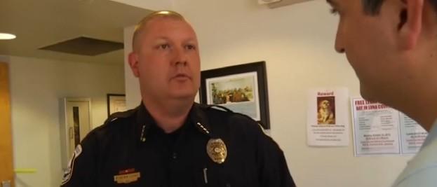Deming, N.M. police chief Brandon Gigante (Screenshot / KOB-4)