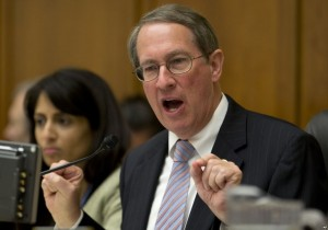Chairman of the House Judiciary Committee is animated in his opening remarks at the hearing on enforcing the President's duty to faithfully execute the laws on Weds., Feb., 26, 2014.