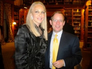 Barbara Winston with Eric Shawn at the Center for Security Policy