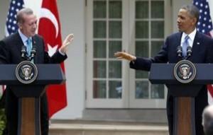 US President Barack Obama and Turkish PM Recep Tayyip Erdogan in Washington. Photo: REUTERS
