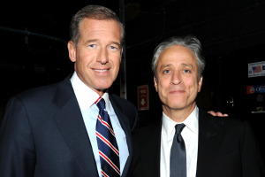 "Jon Stewart's defense of Brian Williams was ""The Daily Show"" in a nutshell — laugh off a scandal and change the subject. Photo: Getty Images"