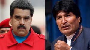 Venezuela's President Nicolas Maduro and Bolivia's President Evo Morales (Reuters)