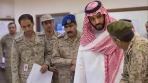 Saudi Arabian Defense Minister Mohammed Bin Salman attends a briefing Wang Bo/Xinhua/ZUMA Wire