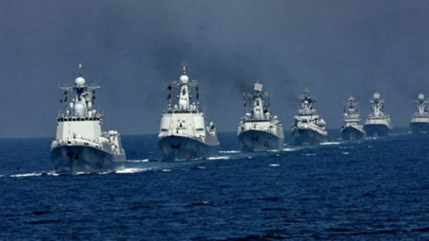 Undated photo of ships of the China's People's Liberation Army Navy (PLAN) in 2012